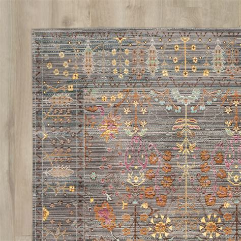 Bungalow Rose Ziraoui Grey Area Rug & Reviews   Wayfair