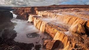 Grand, Falls, Little, Colorado, River, Arizona, Hd, Wallpaper