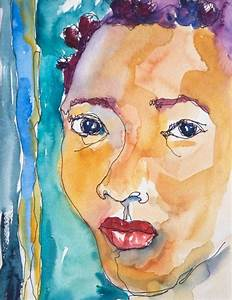 Art Painting Abstract Watercolor Portrait Black Jamaican ...