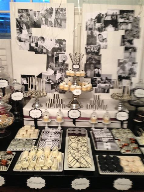 A memorable birthday experience is one of the best ideas to make a birthday special and unique. Image result for dessert table ideas for 50 th birthday | Candy table decorations, Cake table ...