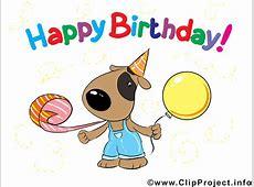 Happy Birthday Hund Karte, Clipart, Bild