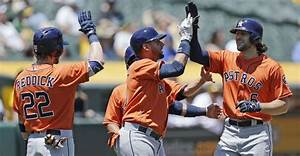 Astros use 8-run inning to complete sweep of Athletics ...