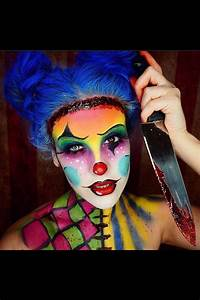 Nicole Guerriero's killer clown Halloween makeup, best ...