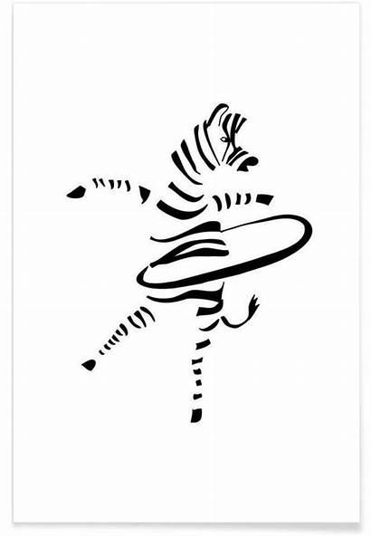 Zebra Hula Hoop Poster Juniqe Heitmann Plakat