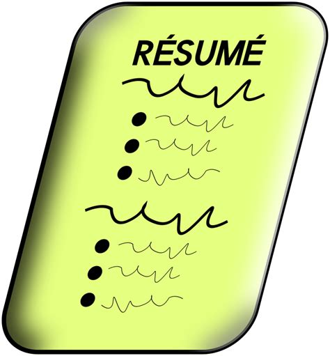 Free Resume Clipart clipart resume
