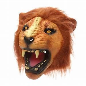 Lion Head Mask Creepy Animal Halloween Costume Theater ...