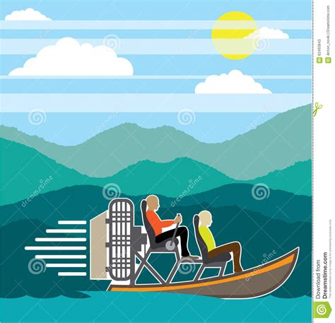 Boat Ride Cartoon by Airboat Cartoons Illustrations Vector Stock Images 3