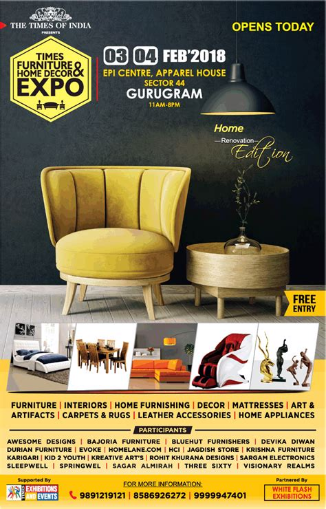 times furniture home decor  expo ad advert gallery