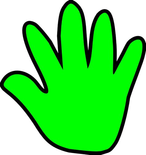 Handprint Clipart Child Handprint Green Clip At Clker Vector Clip