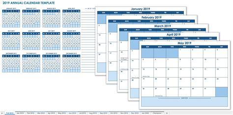 2019 Calendar Template 12 Month Calendar Template 2019 Calendars