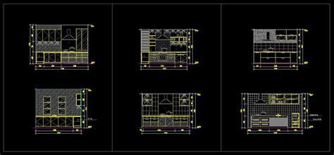 cuisine autocad kitchen design vorlage architektur zeichnungen