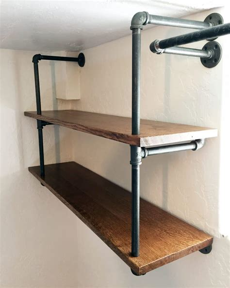 industrial shelf brackets diy industrial pipe shelving chris