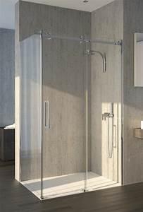porte de douche en verre showerguard atelier du verre With douche avec carreaux de verre