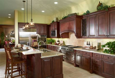 Kitchen Floor Ideas With Cherry Cabinets by 23 Cherry Wood Kitchens Cabinet Designs Ideas