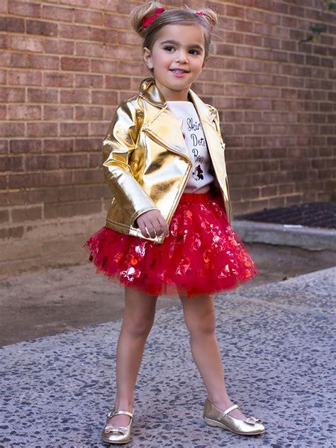 disney collection  tutu couture minnie mouse pc tutu set  gold pleather jacket