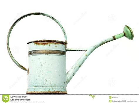 watering can with water coming out vintage watering can royalty free stock images image