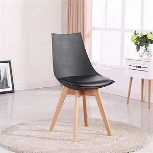 Chaise Noire Salle A Manger : chaise de bureau scandinave achat vente chaise de ~ Teatrodelosmanantiales.com Idées de Décoration