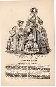 Godey U0026 39 S Fashion Print Engravings  Circa 1860