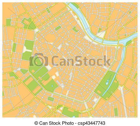detailed street map   austrian capital vienna