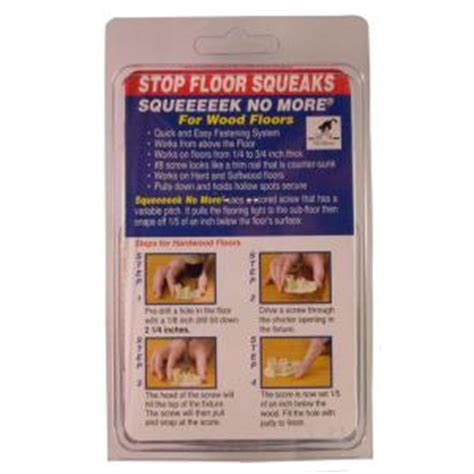squeaky floor kit canada squeeeeek no more hardwood squeak elimination kit 3232