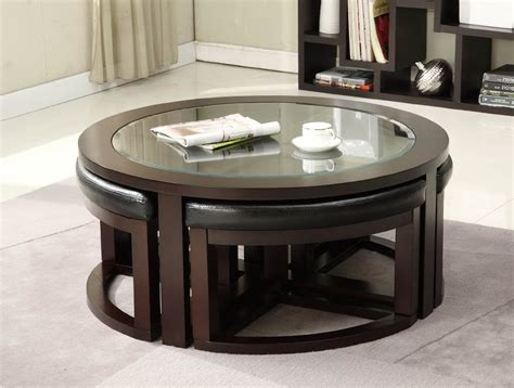 table with ottomans underneath coffee table with storage ottomans underneath best