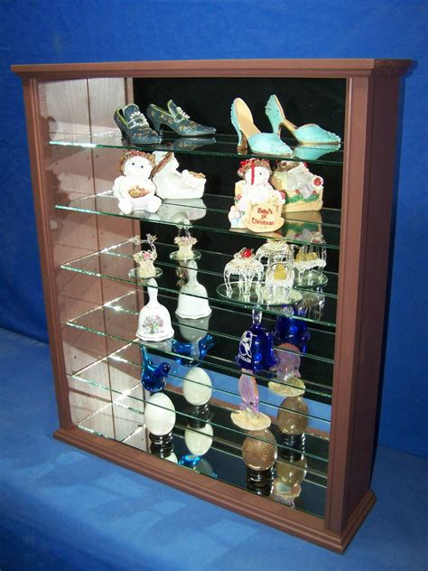wood and glass curio cabinet mahogany wood glass wall curio cabinet curio shelf or