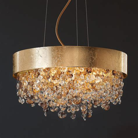 Contemporary White Chandelier by Gold Leaf Contemporary Chandelier