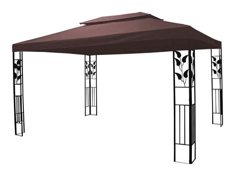 pavillon 3 x 4 m pavillon de jardin 3 x 4 m brun magasin en ligne gonser