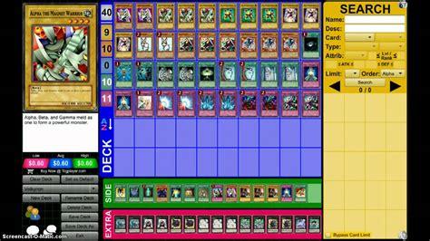 warrior deck yugioh magnet warrior xyz deck profile