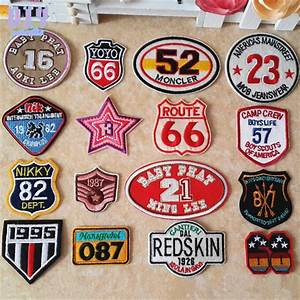 48pcs cartoon number embroidered sew iron on patches diy With fabric letter patches