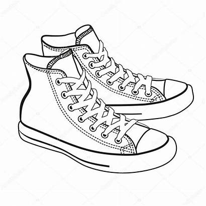 Cartoon Sneakers Lineart Isolated Depositphotos Similar Comm