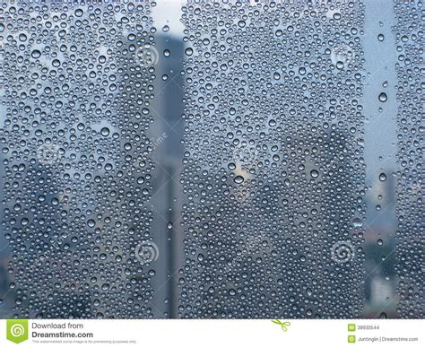 dew formed on a high rise building stock