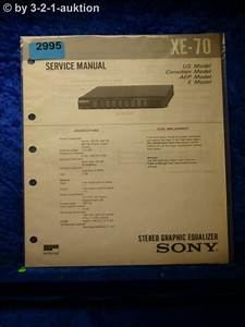 Sony Service Manual Xe 70 Graphic Equalizer   2995