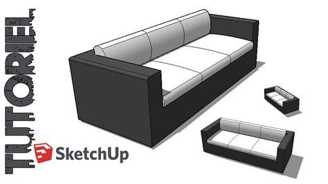 sketchup tutoriel dessin canapé 3 places