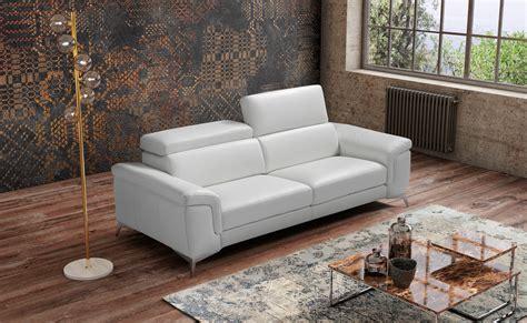 Modern Living Room Sofa in Italian Leather Miami Beach