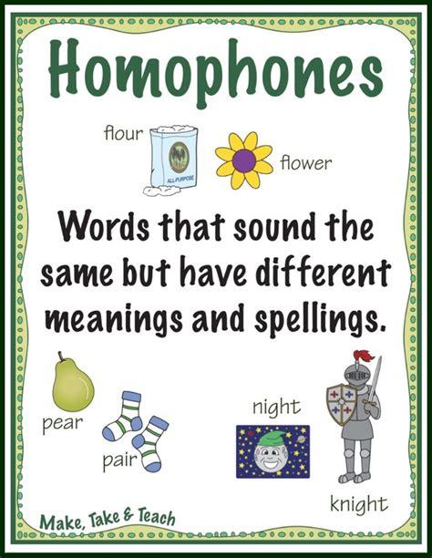 homophones poster  word list dyslexia