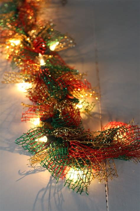 lighted christmas ornament garland lighted dollar store christmas garland yesterday on tuesday