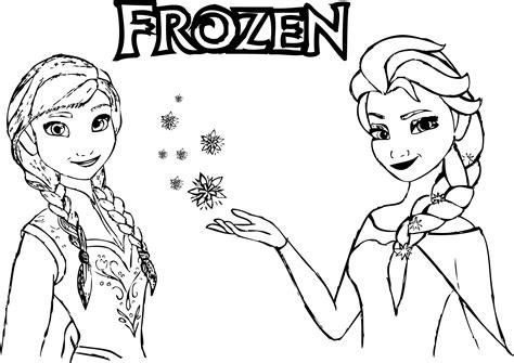 Frozen Anna Elsa Magic Coloring Wecoloringpagecom
