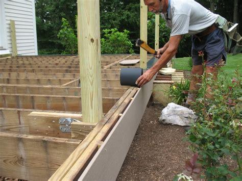 Deck Joist Fascia by Spacing Deck Facias For Bolt Heads Homebuilding
