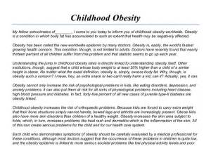 argumentative research paper on childhood obesity Childhood obesity is a major concern for parents, teachers, and the medical community with differing philosophies and theories on causes and prevention.