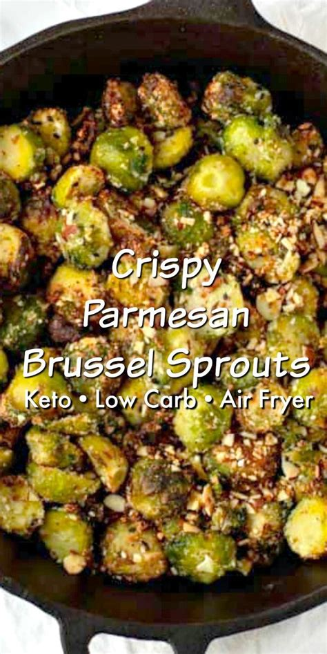 sprouts air fryer keto brussel parmesan crispy recipes broccoli cabbage cheese brussels sprout stylishcravings