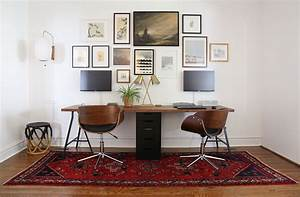 home, designing, , 36, inspirational, home, office, workspaces, that, feature, 2, person, desks