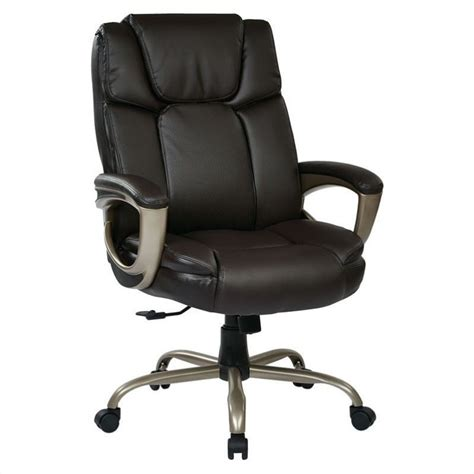 executive eco leather office chair in espresso ech12801 ec1