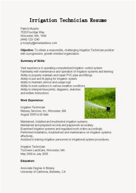 best photos of irrigation resume cover letter resume
