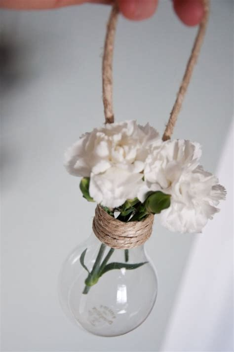 hanging light bulb vase decorations creative spotting
