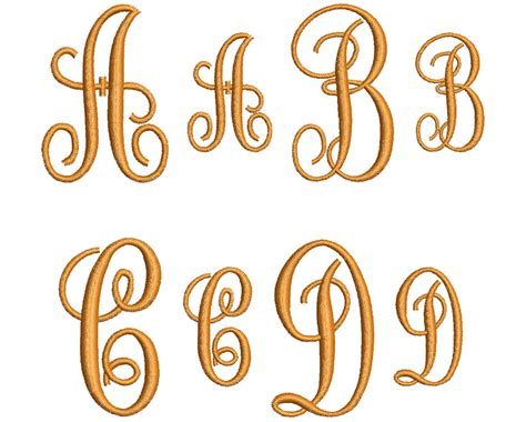 style monogram mm font  wilcomembroideryfontscom