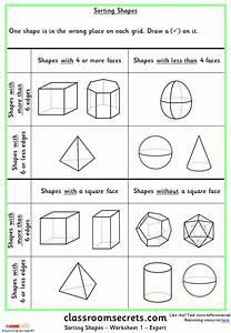 Sorting Shapes Ks1 Reasoning Test Practice