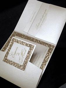 custom wedding invitation high end champagne elegant With unusual handmade wedding invitations