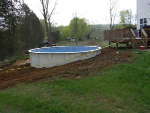 Semi Inground Above Ground Pools