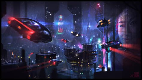 science fiction city hd artist  wallpapers images